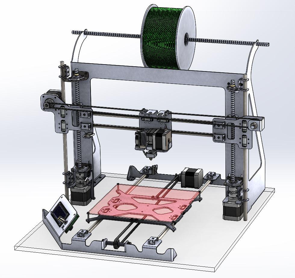 dise o paso a paso de mi primera impresora 3d frax design