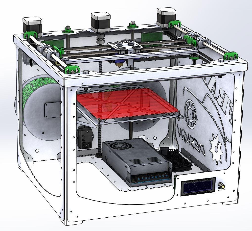 Frax3d nueva impresora 3d for Videos de impresoras 3d